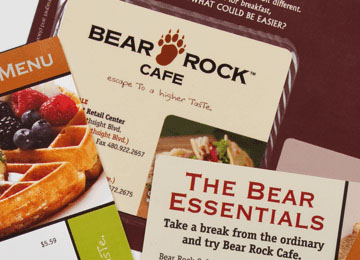 Bear Rock Cafe: Menus